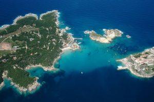 Wyspy Tremiti z samolotu.