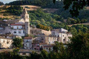 Alberona miasteczko w górach Dauni